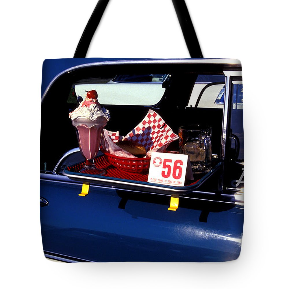 Drive-in Tote Bag featuring the photograph Drive-in Sundays by Paul W Faust - Impressions of Light