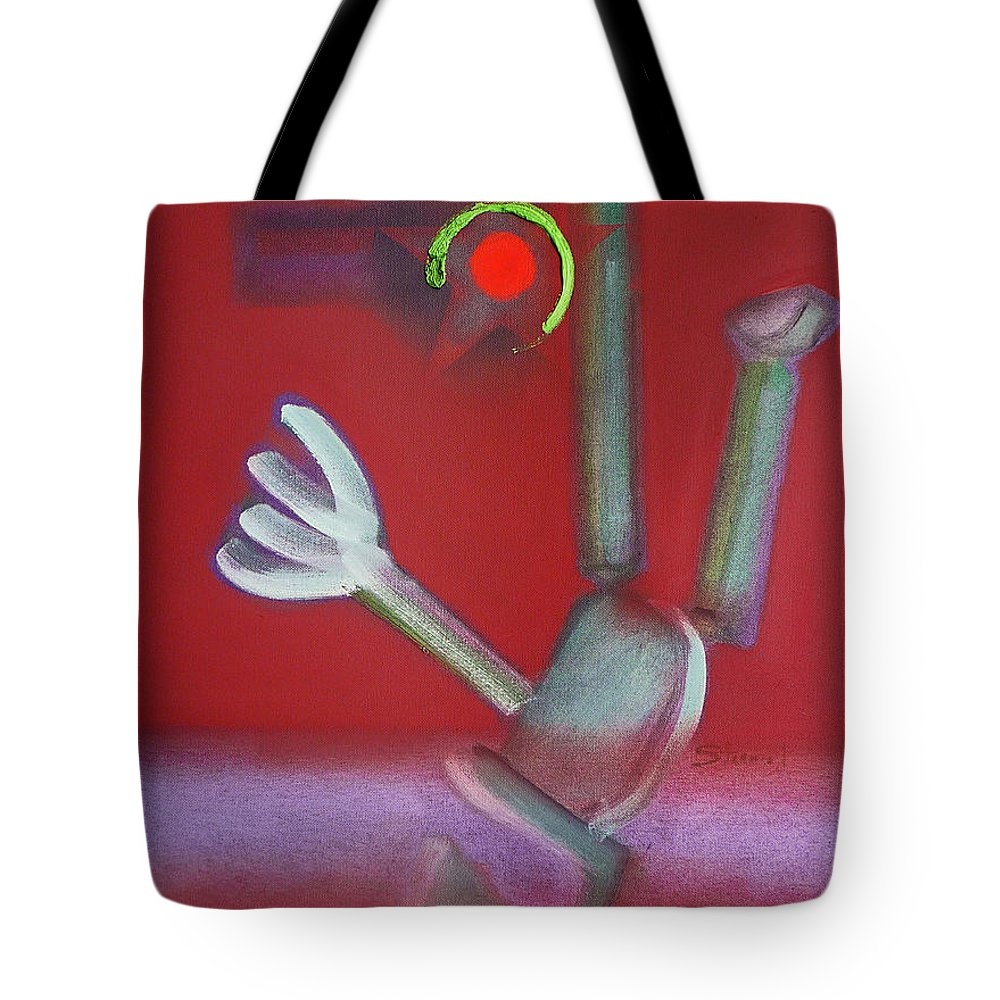 Icarus Tote Bag featuring the painting Falling Figure by Charles Stuart