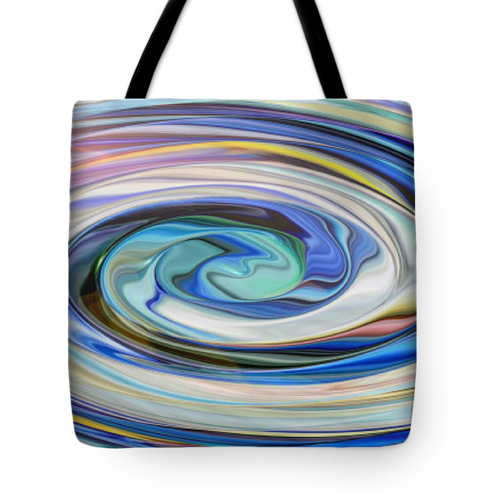Swirl Tote Bag featuring the painting Drop In The Ocean by Alli Cullimore