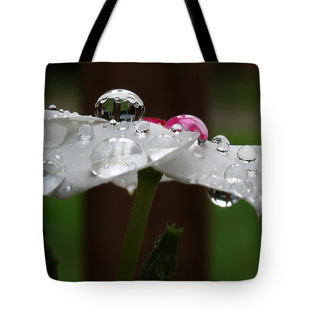 Tote Bag featuring the photograph Drops Of Life by Douglas Stucky