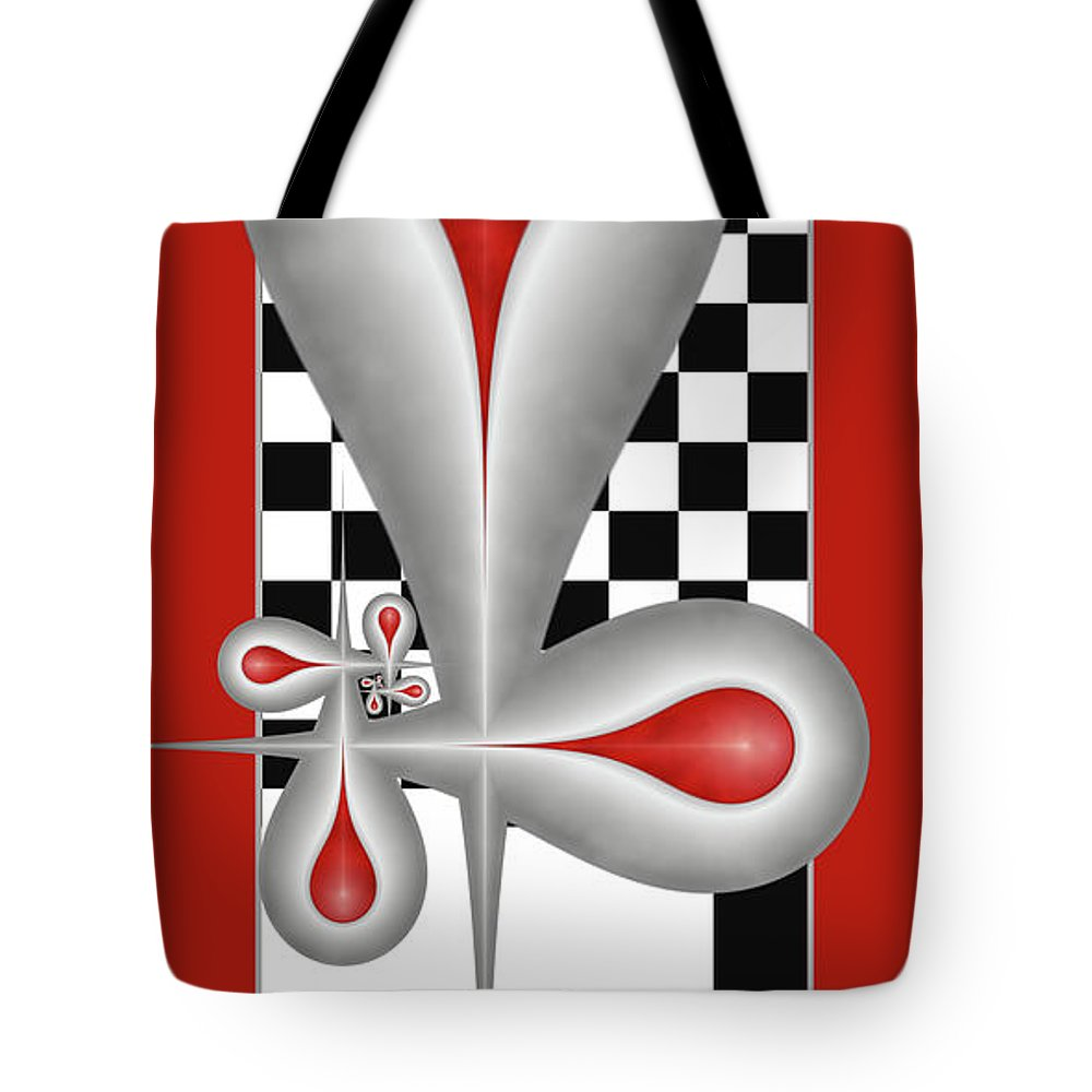 Drops Tote Bag featuring the digital art Drops On A Chess Board by Gabiw Art