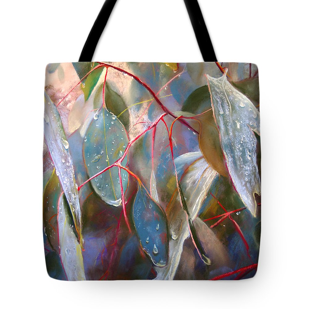 Lynda Robinson Tote Bag featuring the painting Drought Relief by Lynda Robinson