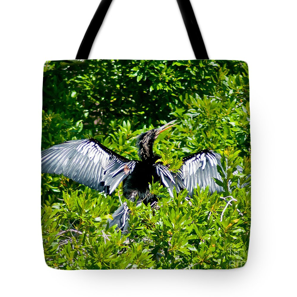 Cormarant Tote Bag featuring the photograph Drying Out by Stephen Whalen