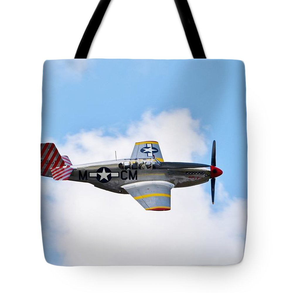 North American P-51 Mustang Tote Bag featuring the photograph Dual Control Tp-51c Mustang by Matt Abrams
