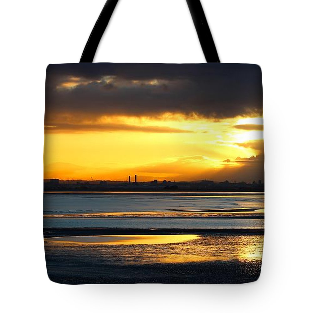 Dublin Bay Tote Bag featuring the photograph Dublin Bay Sunset by Robert Phelan