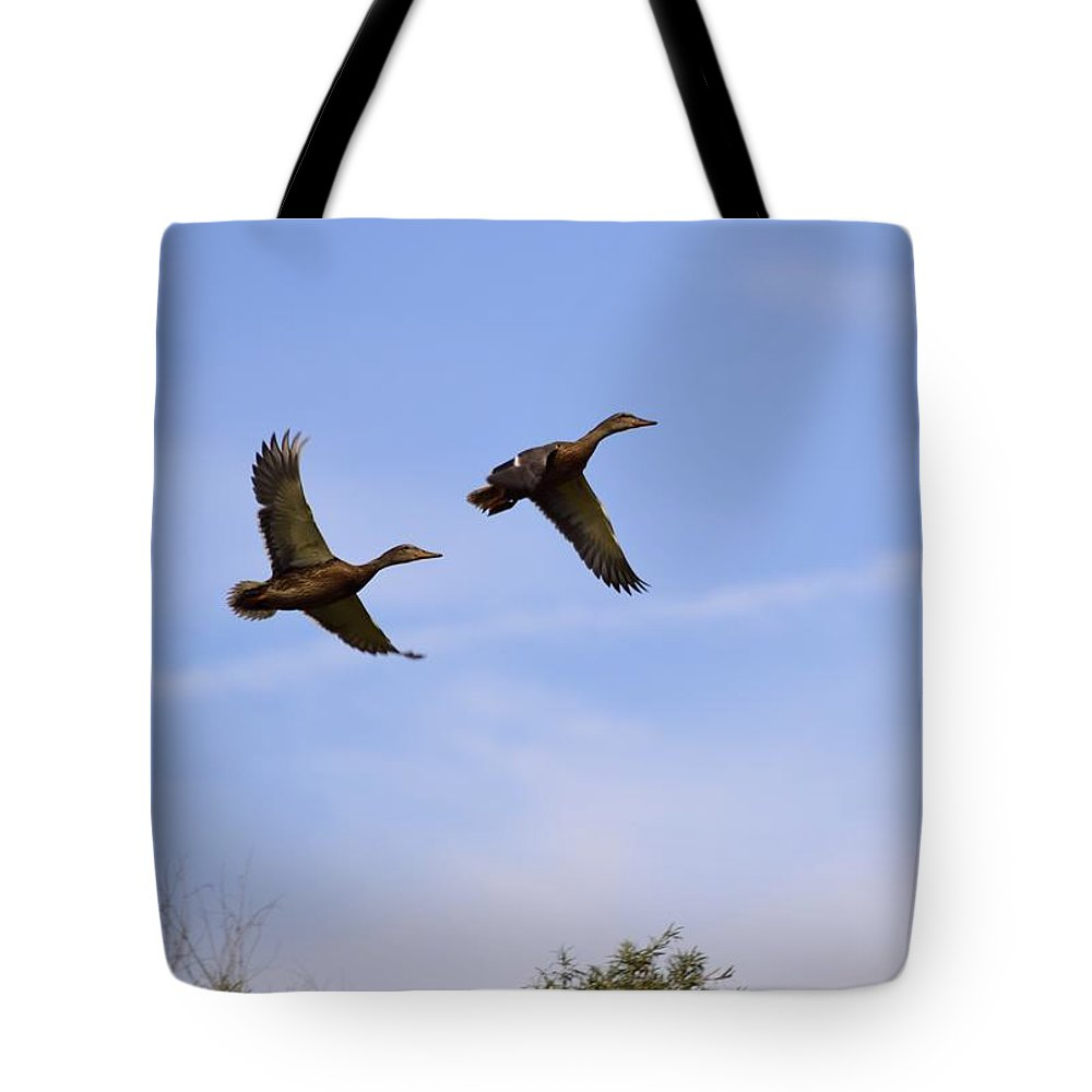 Duck Tote Bag featuring the photograph Duck Moon by Bonfire Photography