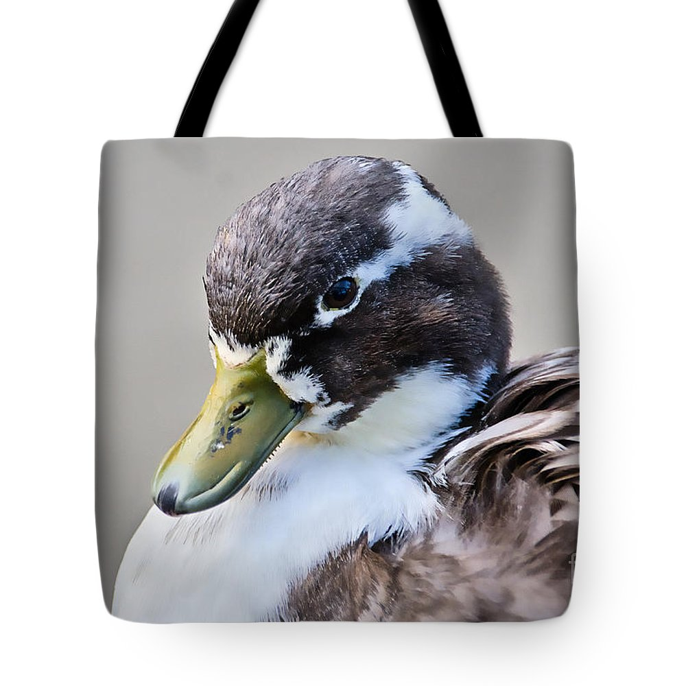 Duck Tote Bag featuring the photograph Duck Portrait by Susie Peek