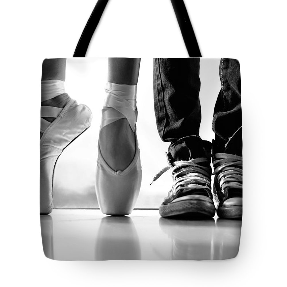 Dance Tote Bag featuring the photograph Duet by Laura Fasulo