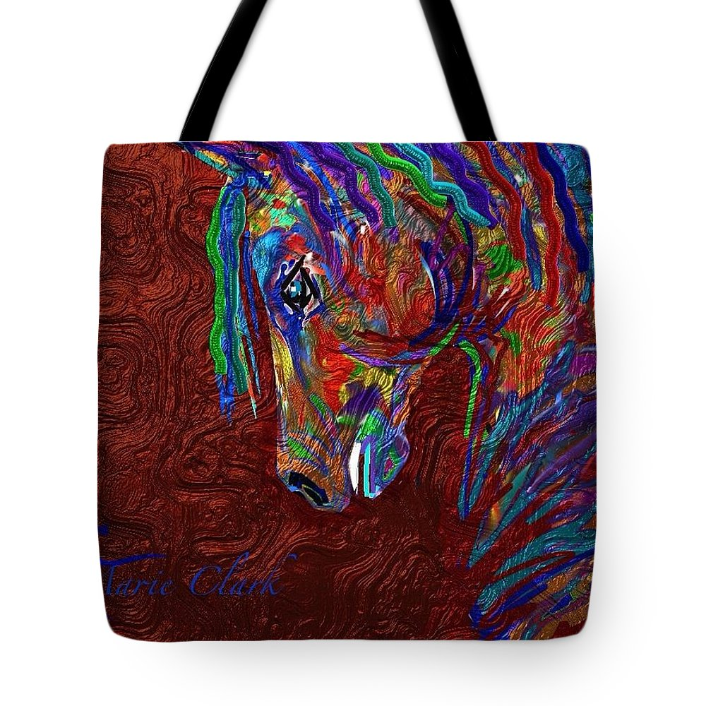 Horse Tote Bag featuring the painting Dunamis by Marie Clark