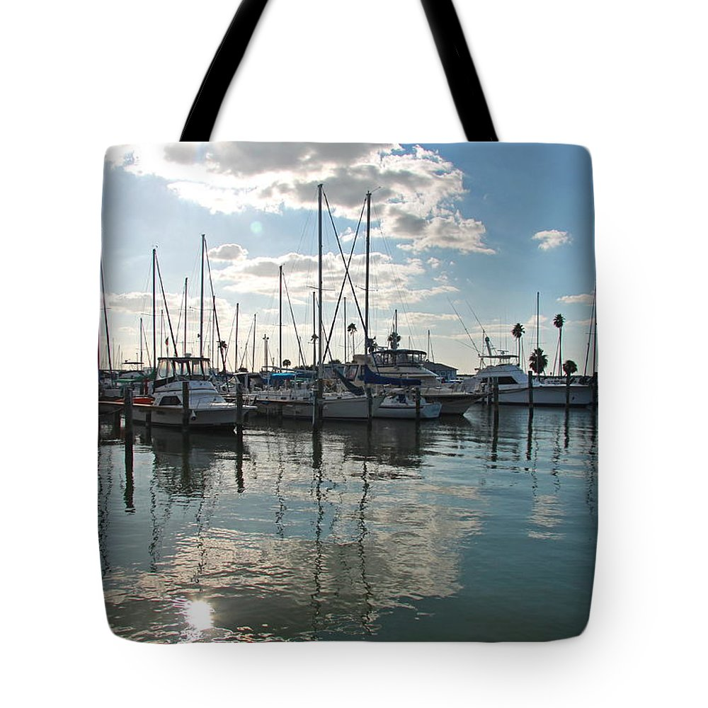 Dunedin Harbor Tote Bag featuring the photograph Dunedin Harbor by Christiane Schulze Art And Photography
