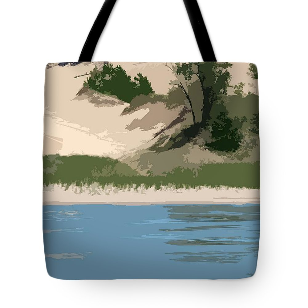 Dunes Tote Bag featuring the photograph Dunes Of Lake Michigan by Michelle Calkins