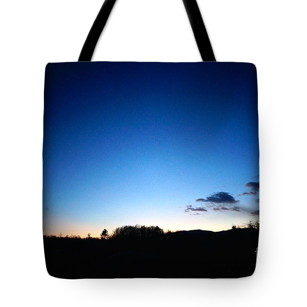 Dusk Tote Bag featuring the photograph Dusk Before The Snow by Ivana Kovacic
