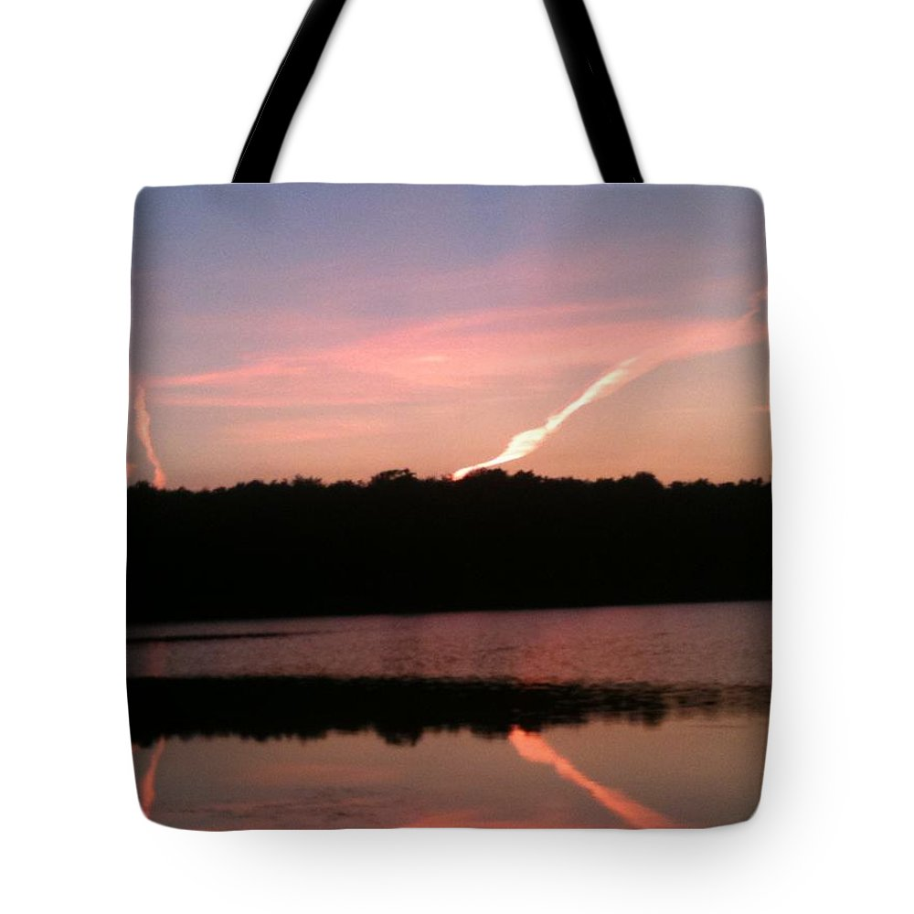 Dusk Tote Bag featuring the photograph Dusk in the Poconos by Sheila Mashaw