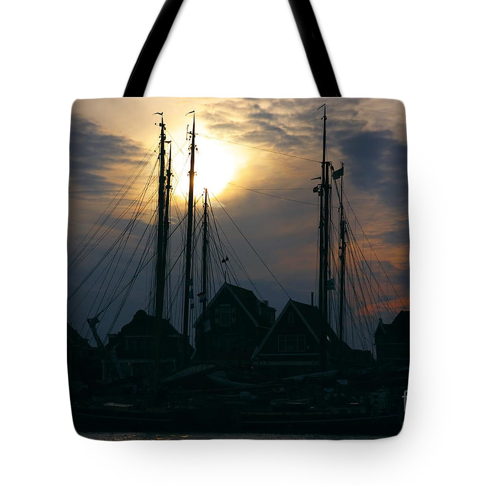 Famous Tote Bag featuring the photograph Dutch Harbour By Night by Nick Biemans