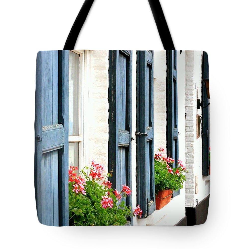 Dutch Windows Tote Bag featuring the photograph Dutch Window Boxes by Carol Groenen