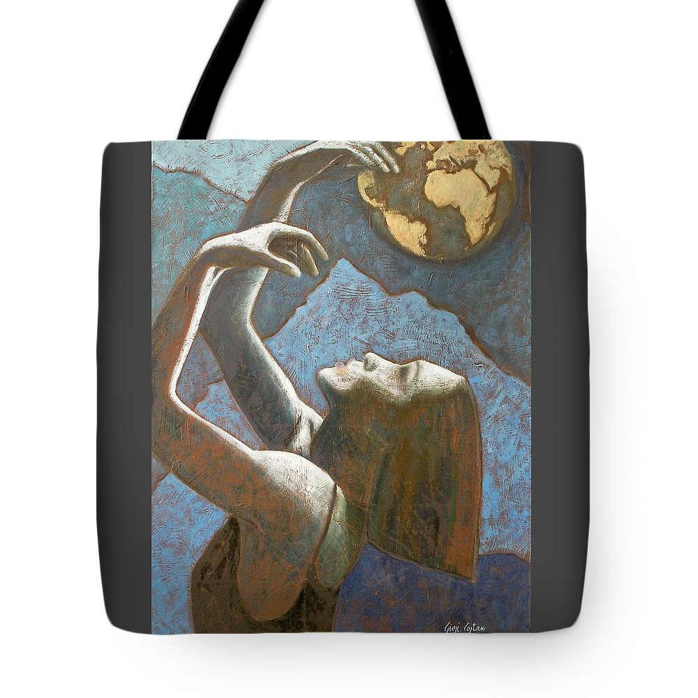 Woman Tote Bag featuring the painting E Se Domani... by Giosi Costan