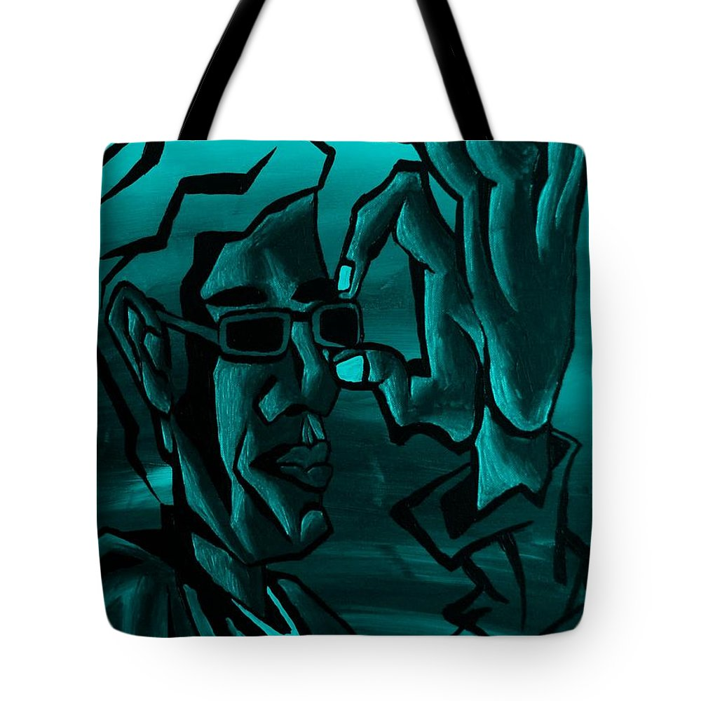 Portrait Tote Bag featuring the photograph E Vincent Aquamarine by Rob Hans