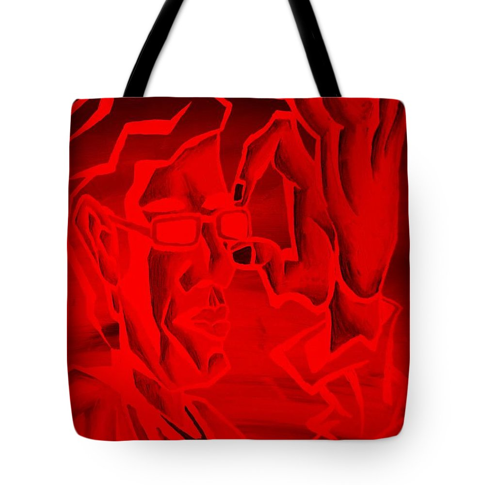 Portrait Tote Bag featuring the photograph E Vincent Negative Red by Rob Hans