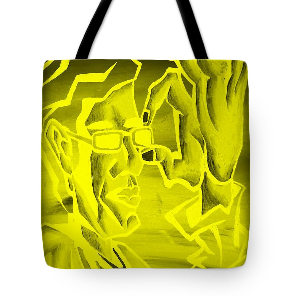 Portrait Tote Bag featuring the photograph E Vincent Negative Yellow by Rob Hans