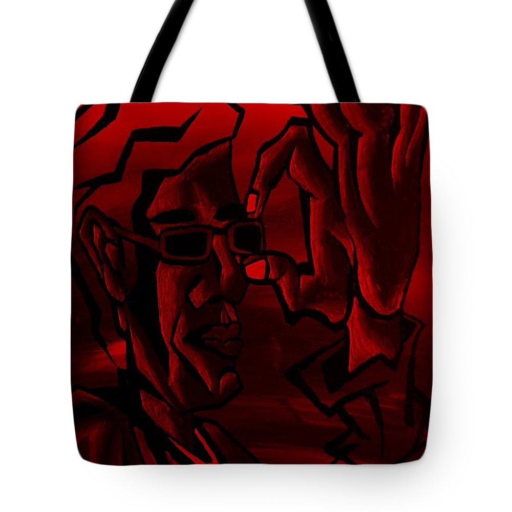 Portrait Tote Bag featuring the photograph E Vincent Red by Rob Hans