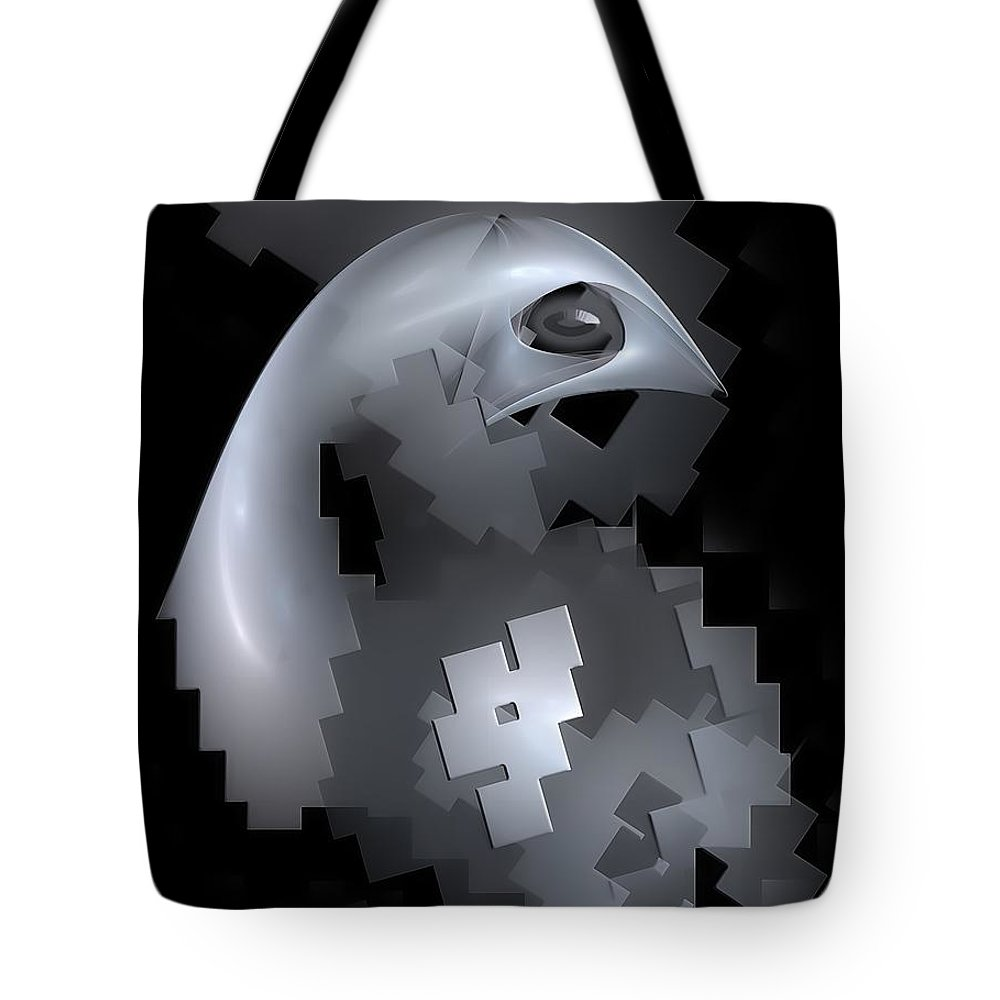 Graphics Tote Bag featuring the digital art Eagle 0613 Marucii by Marek Lutek