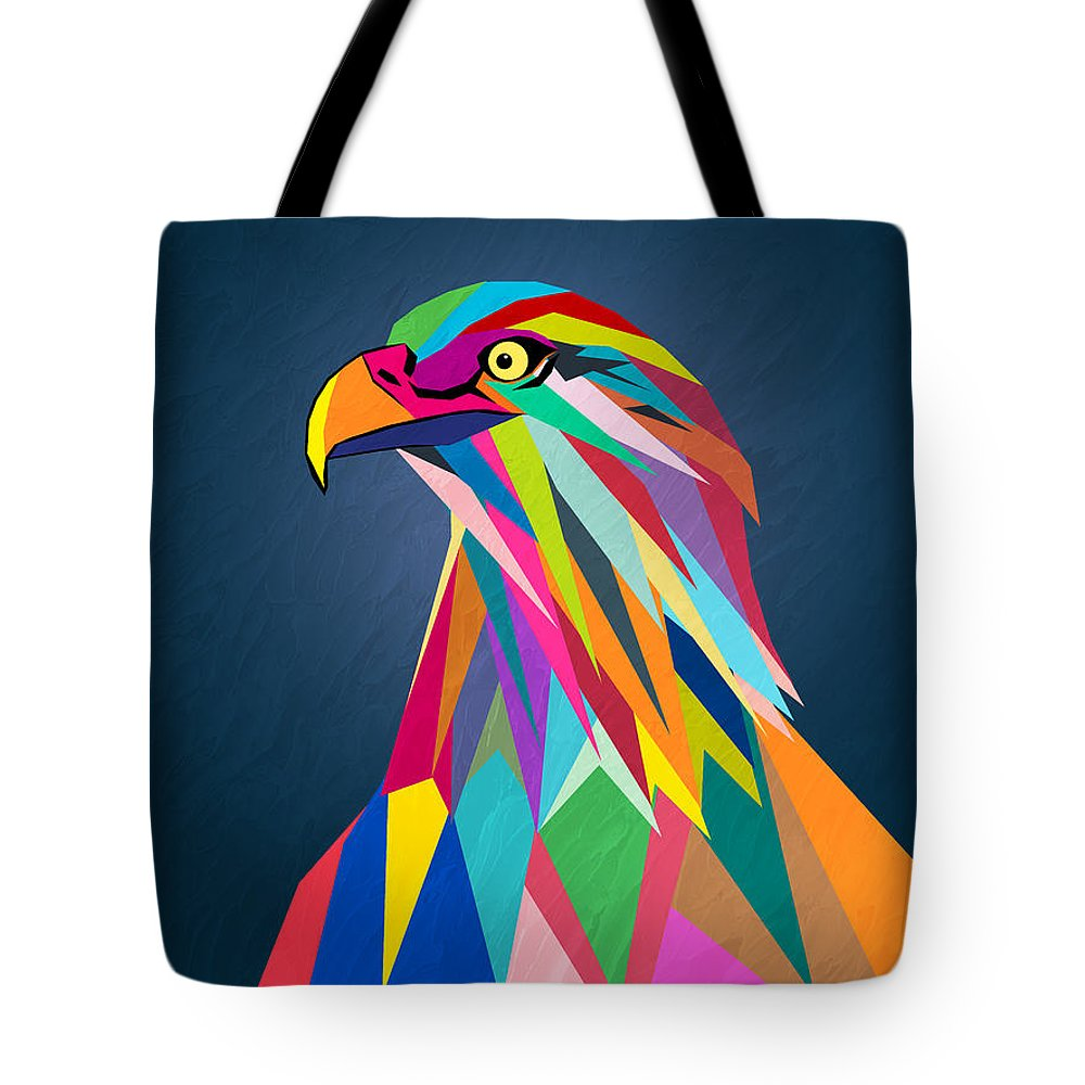 Eagle Tote Bag featuring the painting Eagle by Mark Ashkenazi