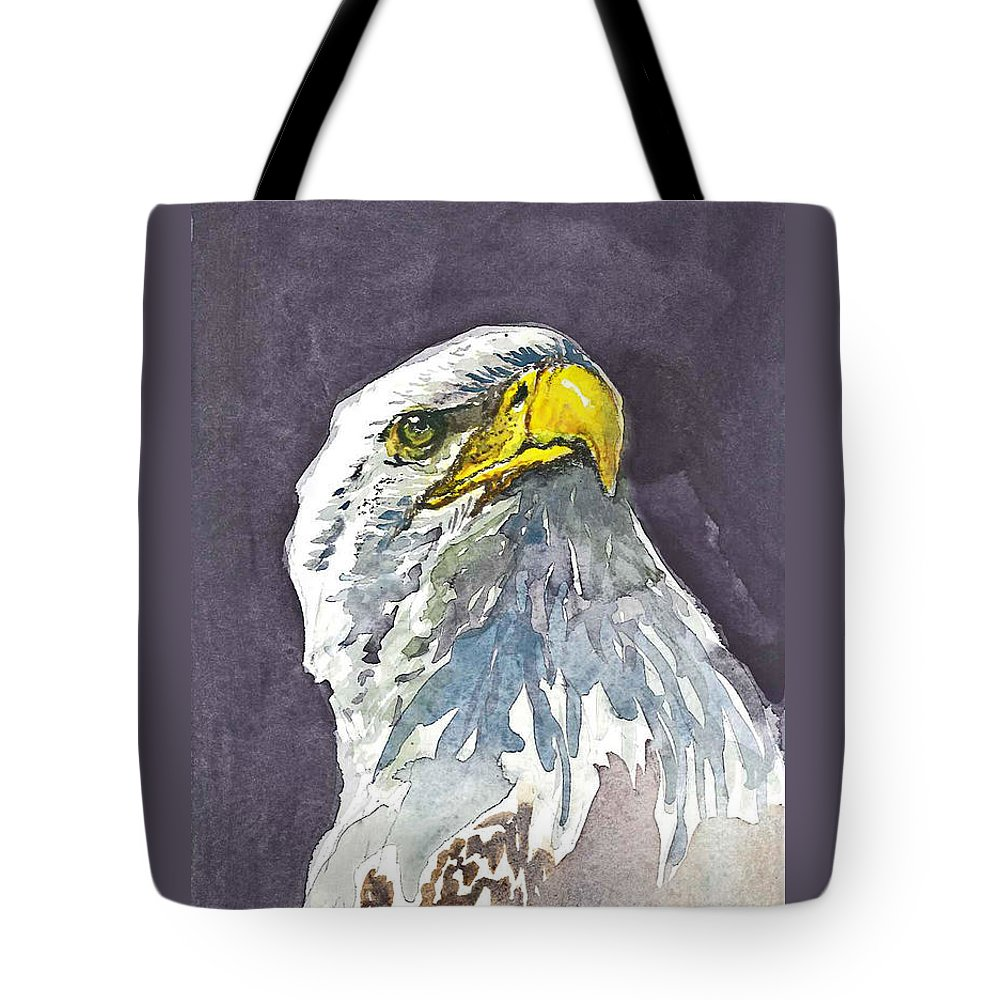 Eagle Tote Bag featuring the painting Eagle by Natalka Kolosok