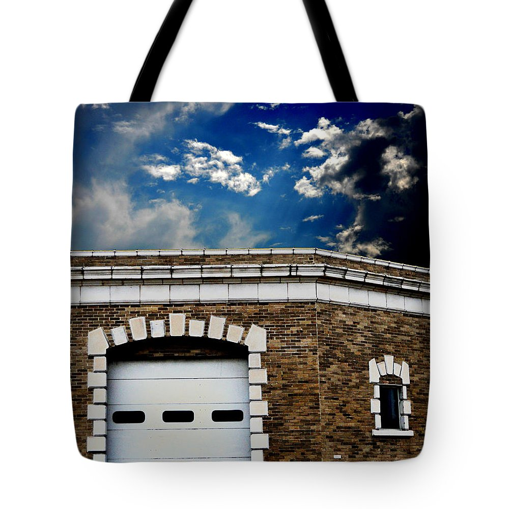 Old Building Tote Bag featuring the photograph Early 1900s St. Louis Firehouse by Maggy Marsh