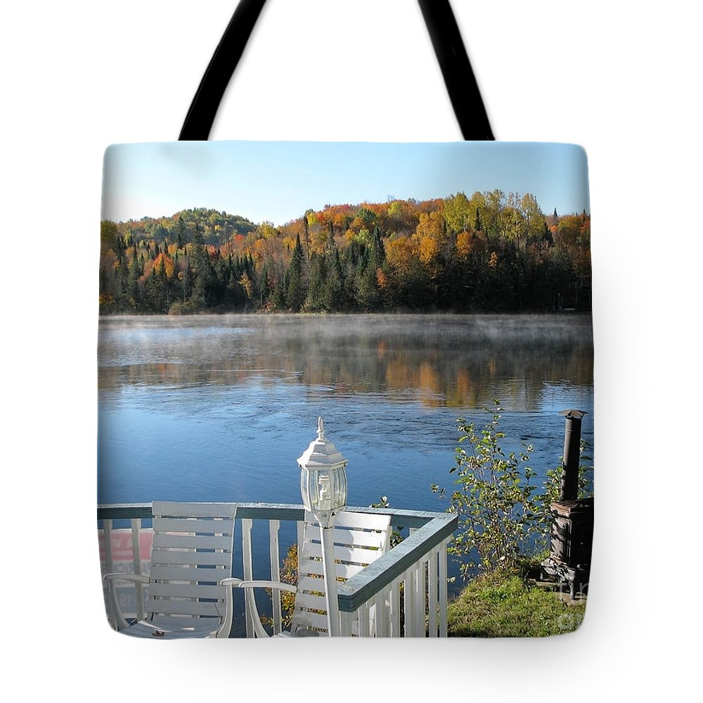 Canada Tote Bag featuring the photograph Early Autumn Morning by Jola Martysz