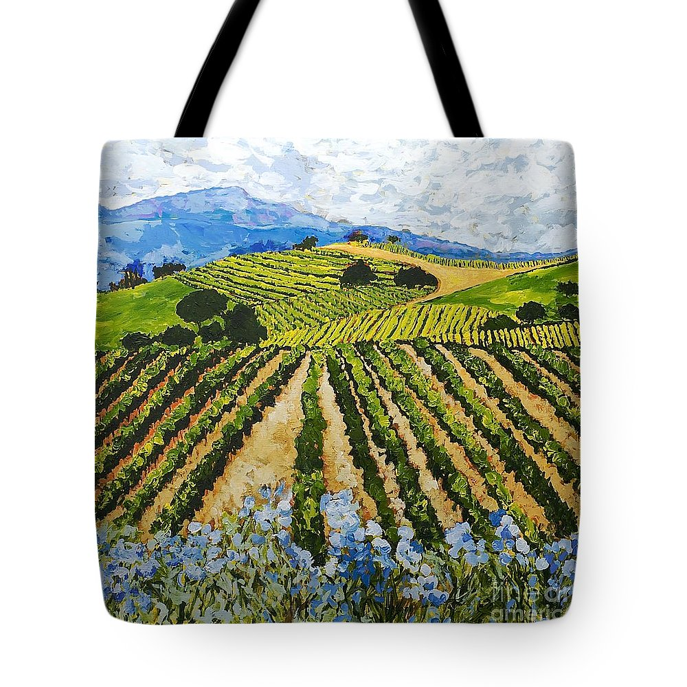 Landscape Tote Bag featuring the painting Early Crop by Allan P Friedlander