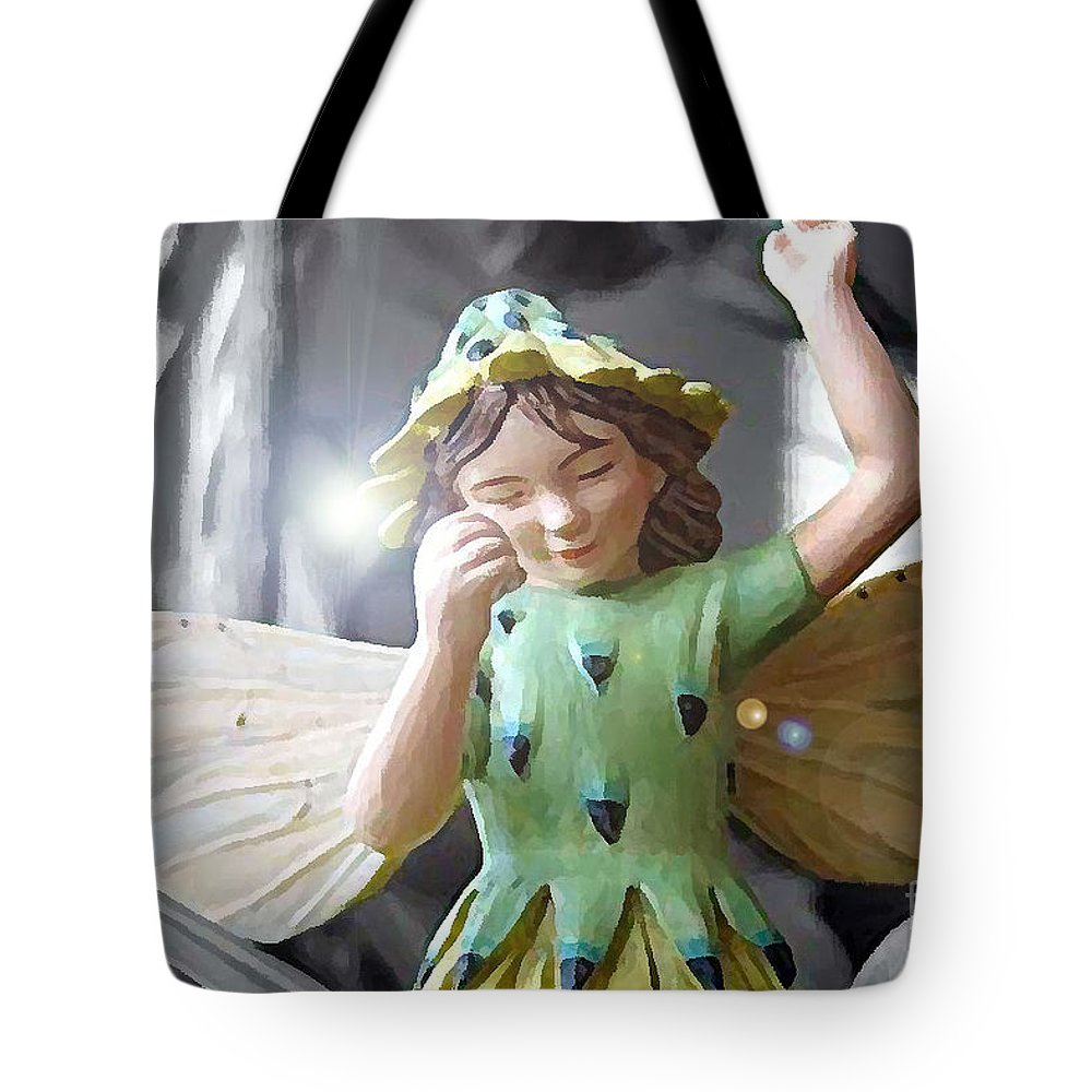 Fairy Tote Bag featuring the photograph Early Evening Fairy by Nina Silver