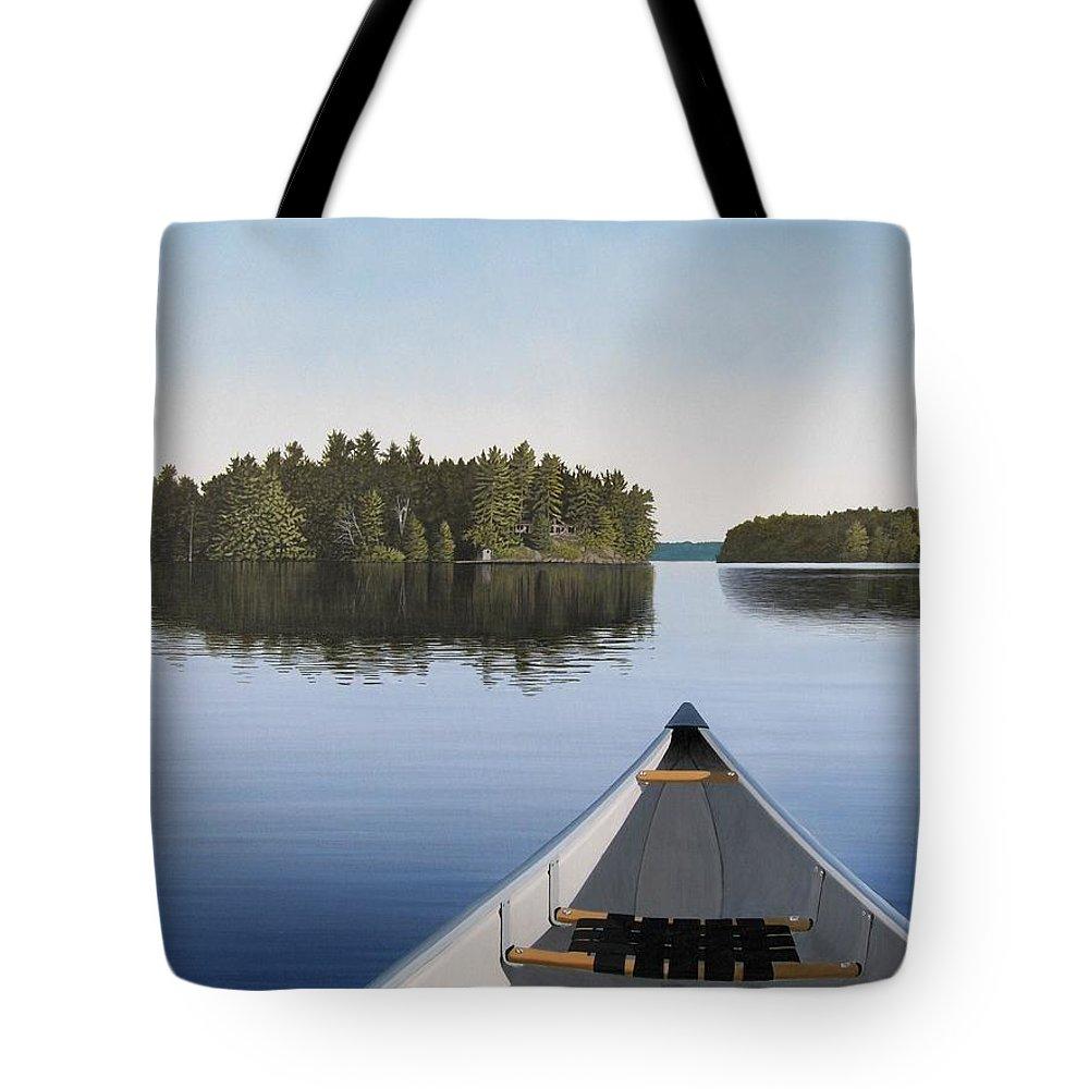 Canadian Paintings Tote Bags