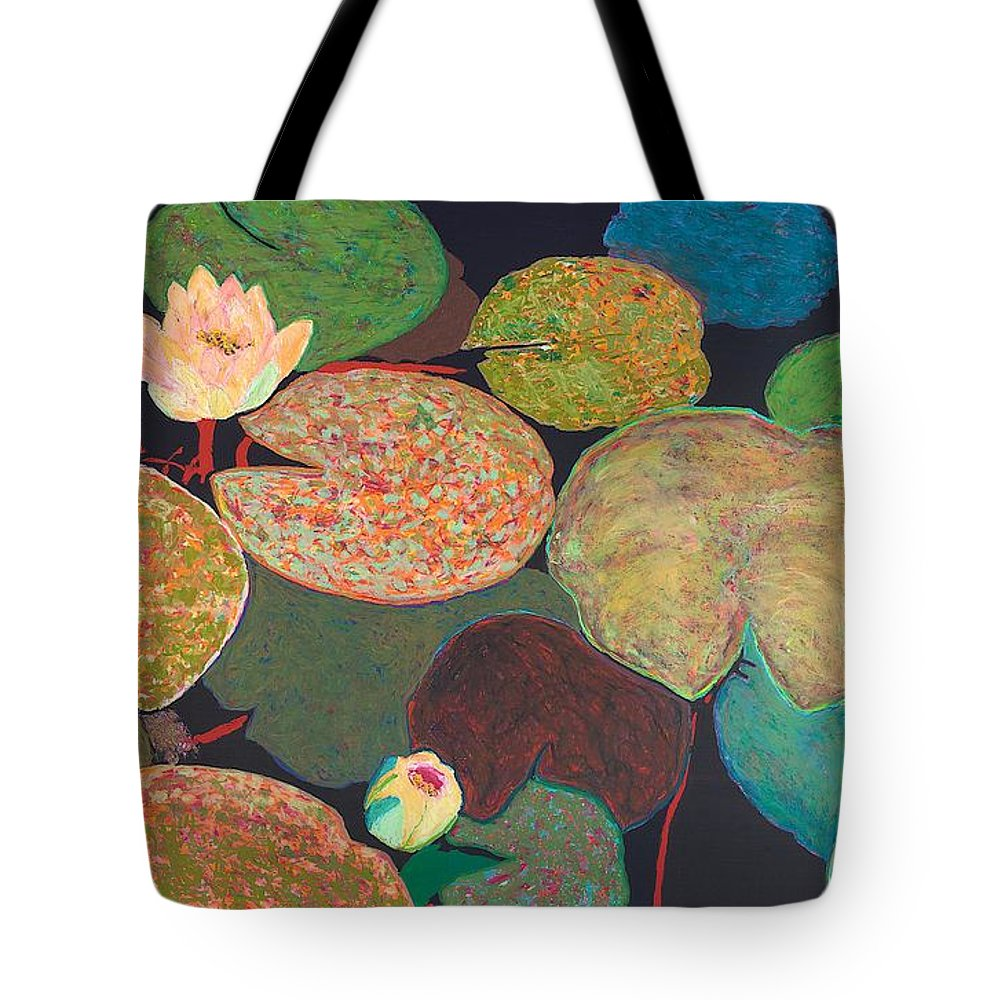 Landscape Tote Bag featuring the painting Early Mist by Allan P Friedlander