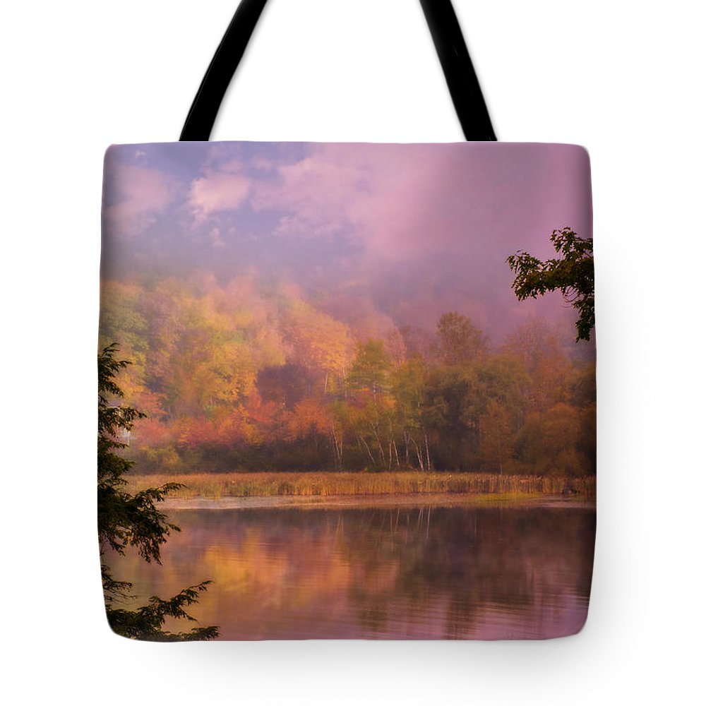 Autumn Tote Bag featuring the photograph Early Morning Beauty by Sherman Perry