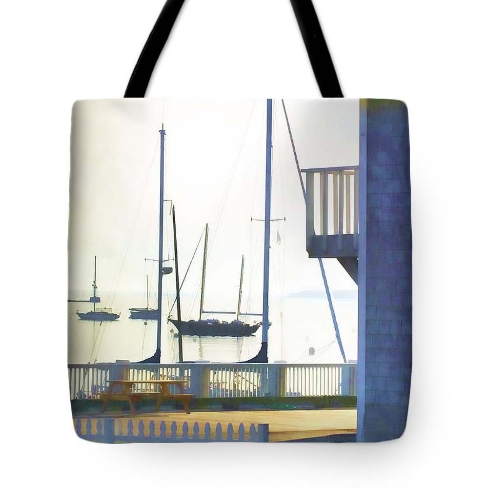 Camden Tote Bag featuring the photograph Early Morning Camden Harbor Maine by Carol Leigh
