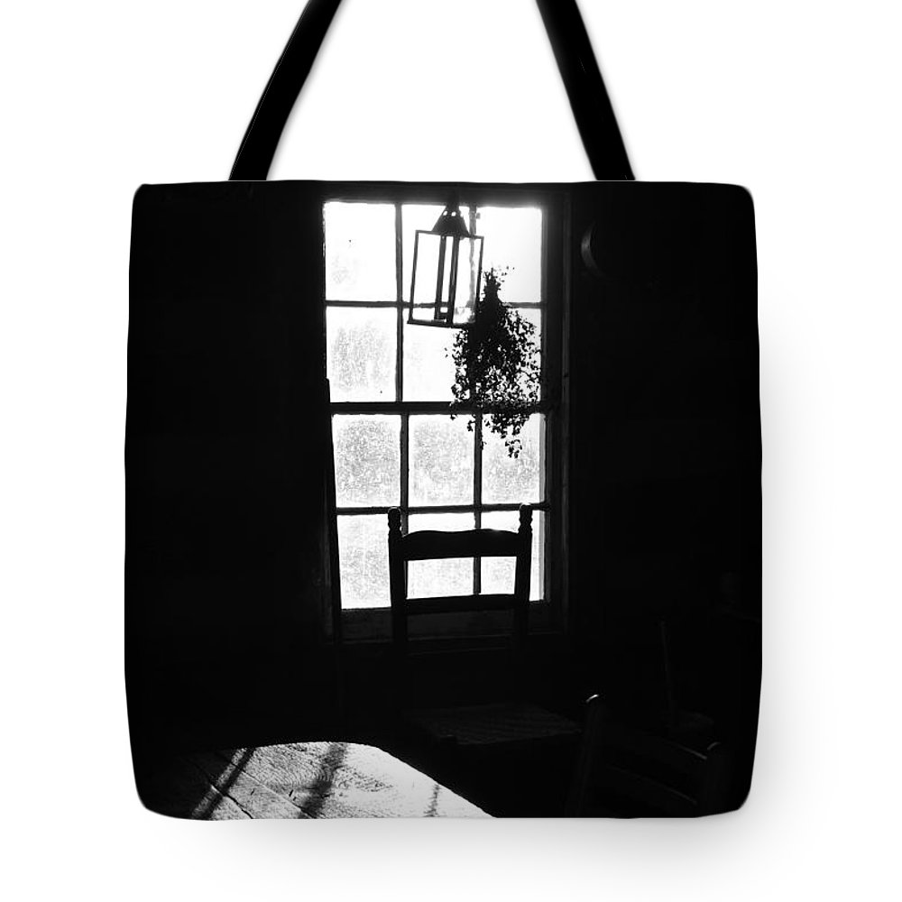 Early Morning Tote Bag featuring the photograph Early Morning In Historic Cabin by Gregory Strong
