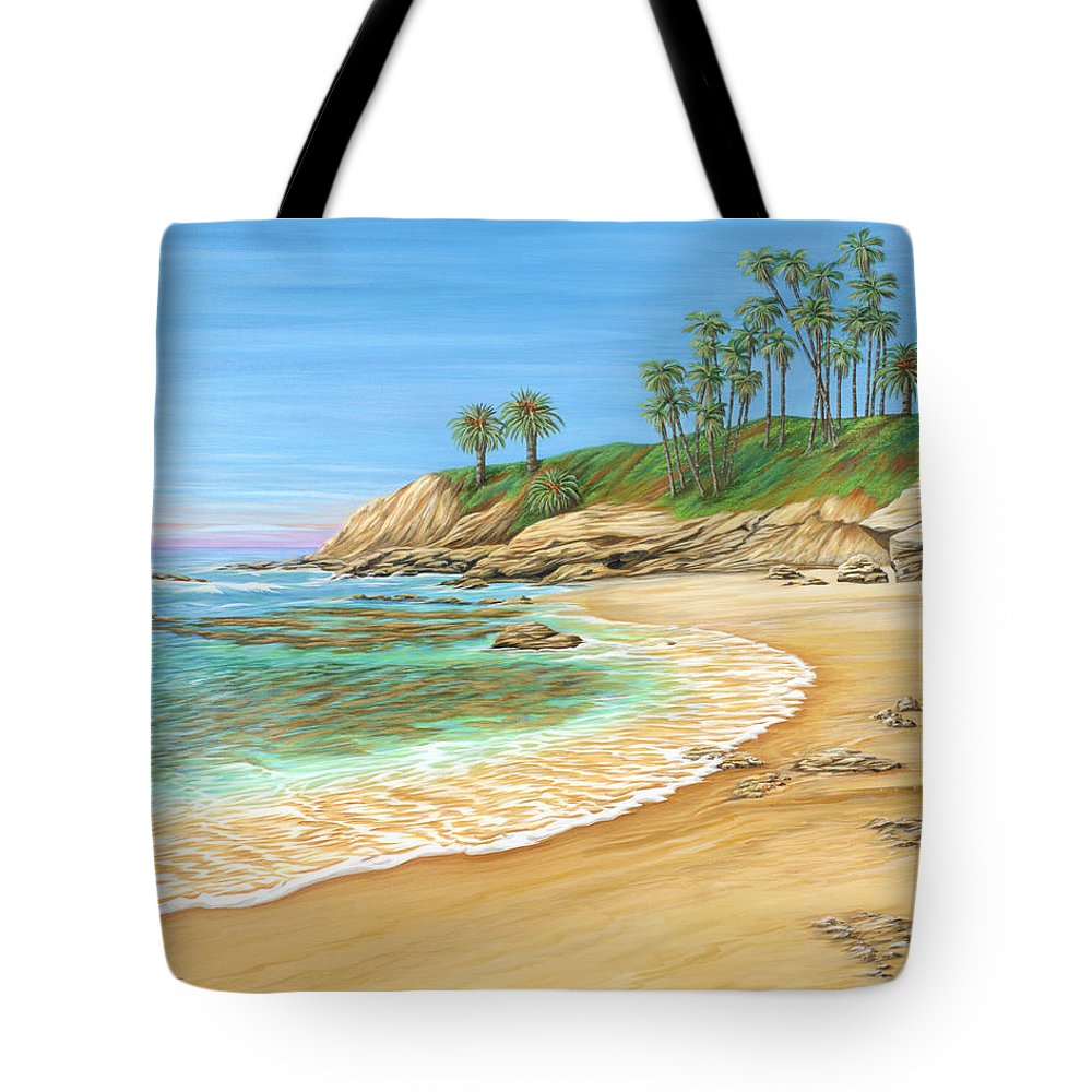 Beach Tote Bag featuring the painting Early Morning Laguna by Jane Girardot