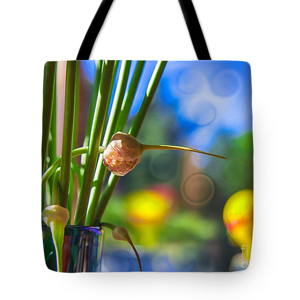 Georgia Okeefe Tote Bag featuring the painting Early Morning Magic by Omaste Witkowski