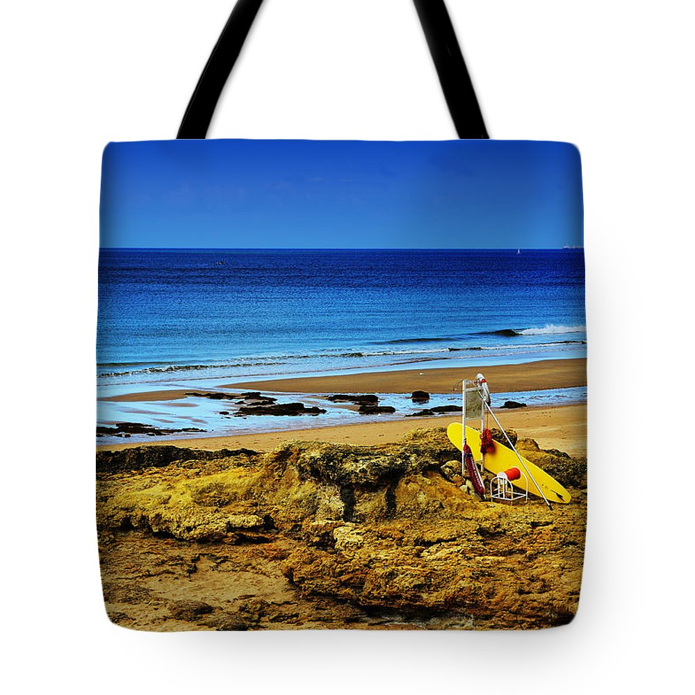 Early Morning On The Beach Tote Bag featuring the photograph Early Morning On The Beach by Marco Oliveira
