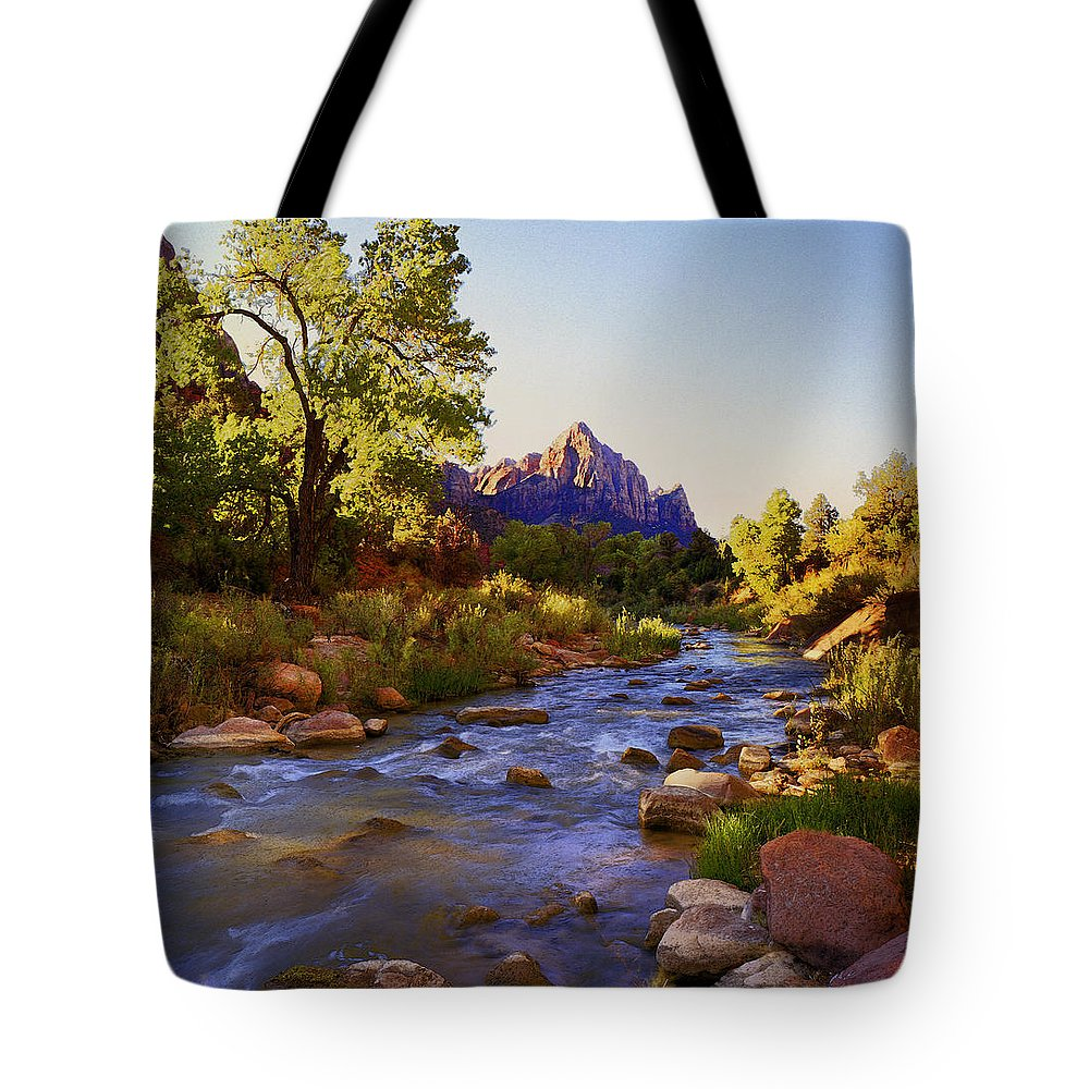 Zion Tote Bag featuring the photograph Early Morning Sunrise Zion N.p. by Rich Franco