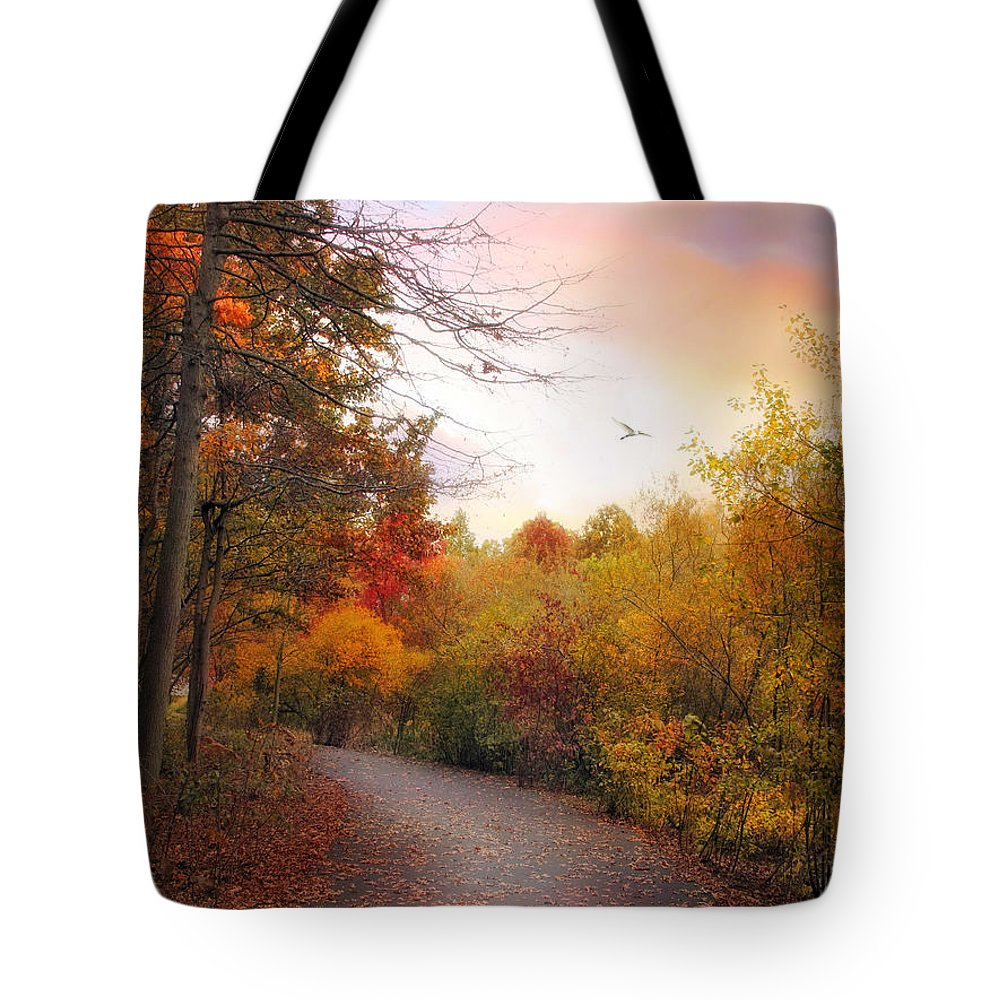 Autumn Tote Bag featuring the photograph Early To Rise by Jessica Jenney