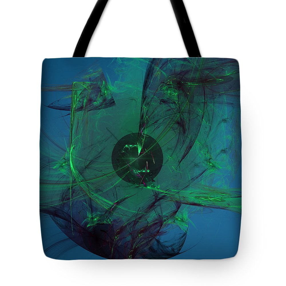 Chaos Tote Bag featuring the digital art Earth And Heaven by Jeff Iverson
