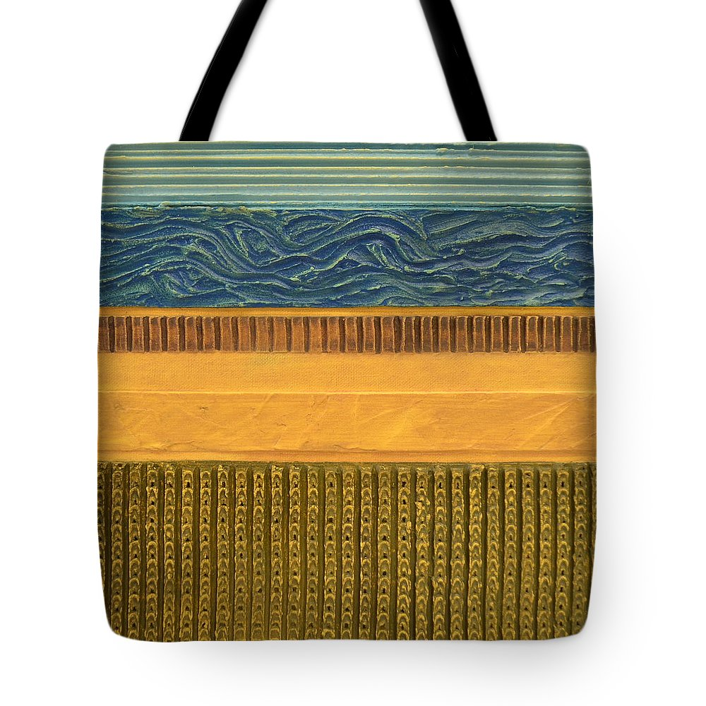Abstract Tote Bag featuring the painting Earth Layers Abstract L by Michelle Calkins