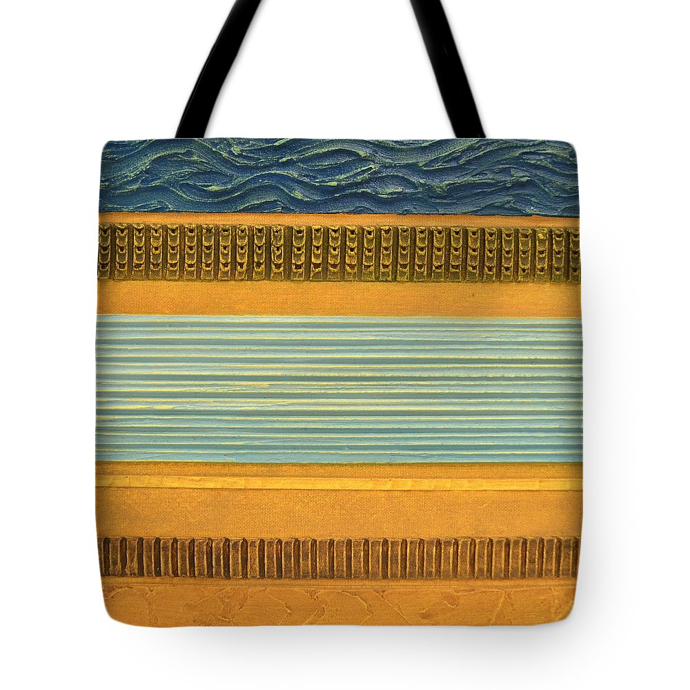 Abstract Tote Bag featuring the painting Earth Layers Abstract Ll by Michelle Calkins