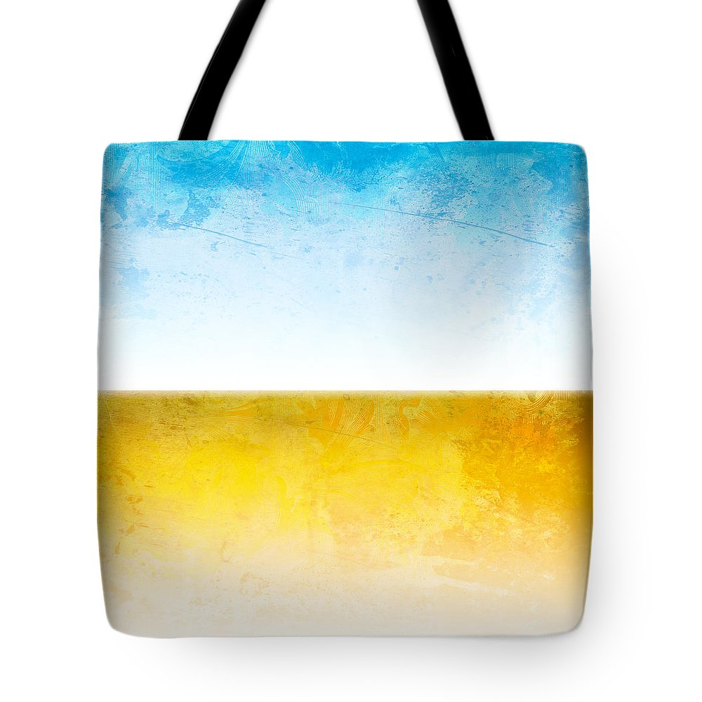 Abstract Tote Bag featuring the digital art Earth by Peter Tellone