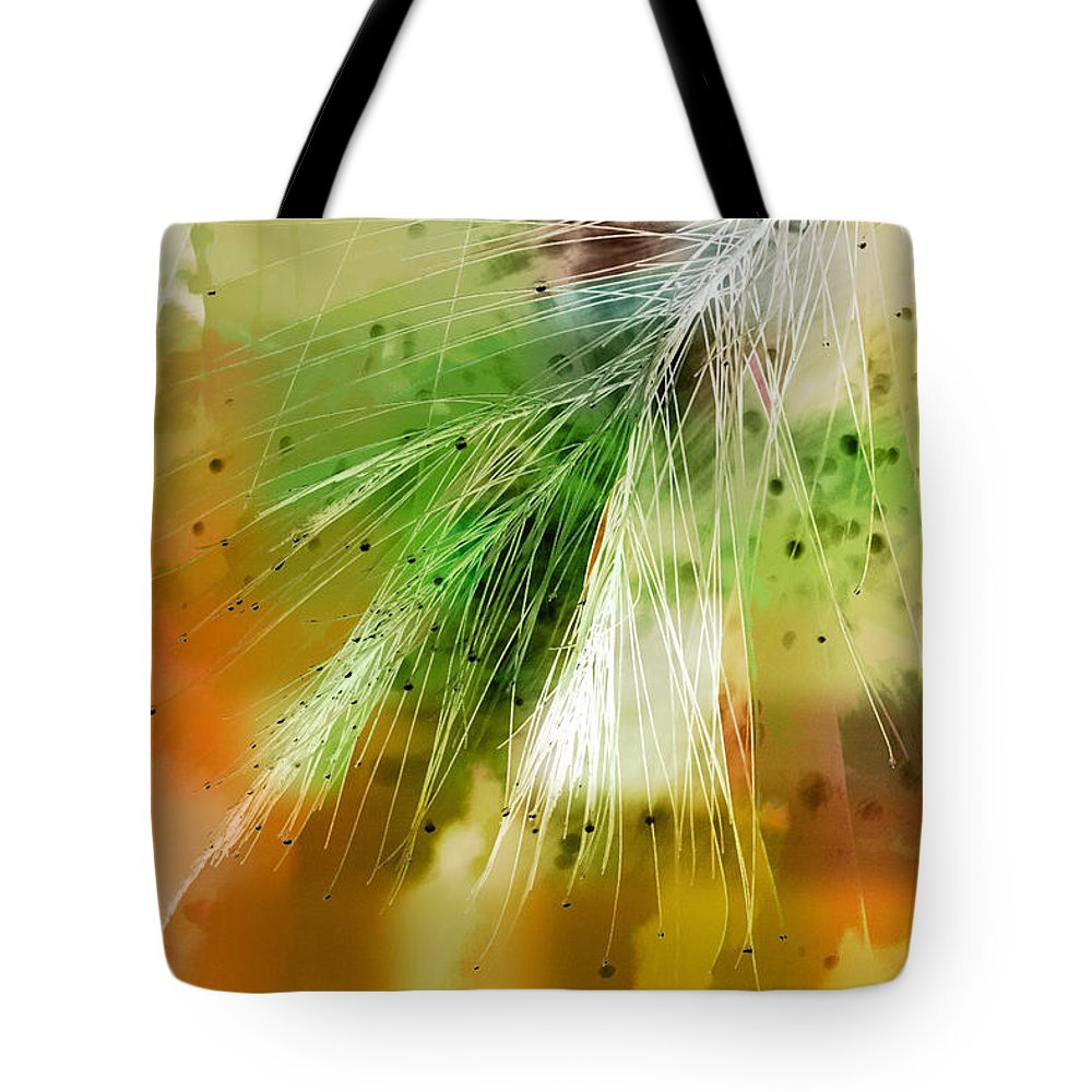 Abstract Tote Bag featuring the photograph Earth Silk by Holly Kempe