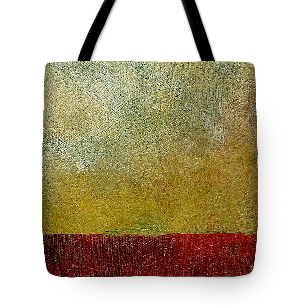 Abstract Landscape Tote Bag featuring the painting Earth Study One by Michelle Calkins
