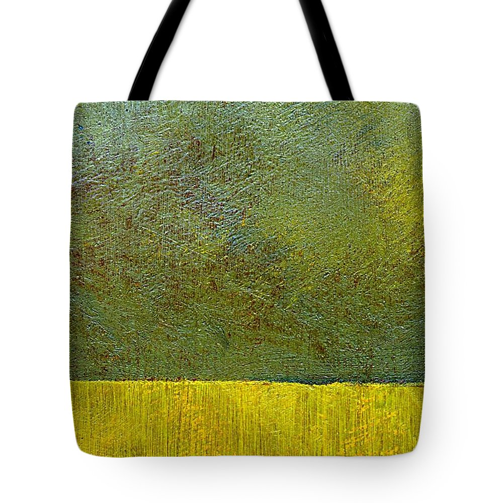 Abstract Landscape Tote Bag featuring the painting Earth Study Two by Michelle Calkins