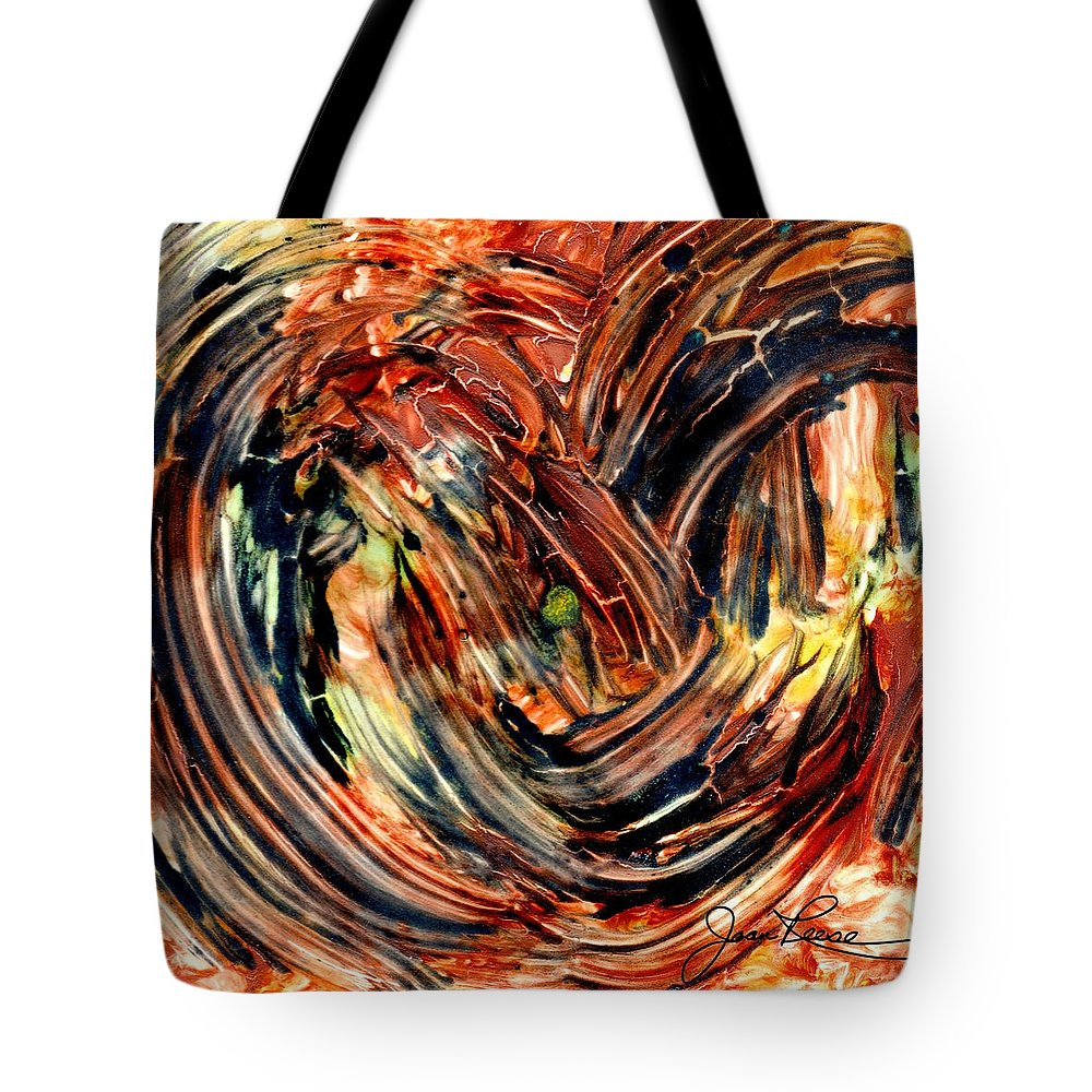 Abstract Painting Tote Bag featuring the painting Earth Winds by Joan Reese