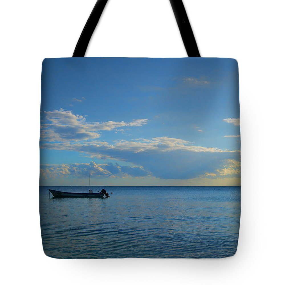 Puerto Morelos Tote Bag featuring the photograph Easing Into The Day by Allan Van Gasbeck